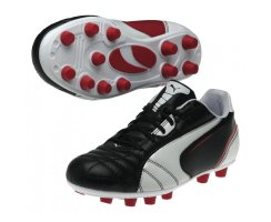Puma Universal FG Jr  102701-02 (black-white-ribbon red)...